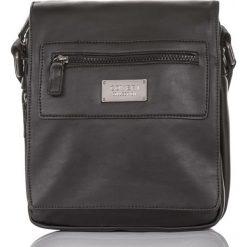 Męska czarna praktyczna torba na ramię GERALDO. Czarne torby na ramię męskie Merg, z materiału, na ramię, duże. Za 99,90 zł.