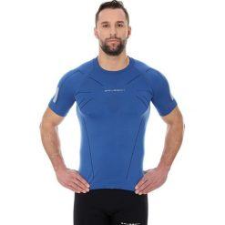 Brubeck Koszulka męska ATHLETIC z krótkim rękawem ciemnoniebieski r. XL (SS11090). Niebieskie t-shirty męskie marki Brubeck, m, z krótkim rękawem. Za 109,99 zł.