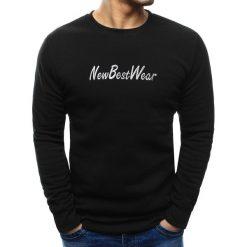 Bluzy męskie: Bluza męska z napisem czarna (bx3439)