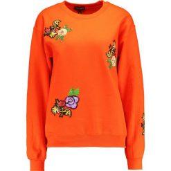 Bluzy damskie: Topshop FLORAL APPLIQUE  Bluza orange
