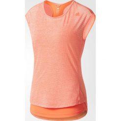 Bluzki asymetryczne: Adidas Koszulka damska Supernova TKO 2 Layer Short Sleeve różowa r. L (B28279)