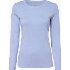 Brookshire - Damska koszulka z długim rękawem, niebieski. Niebieskie t-shirty damskie brookshire, s, z bawełny, z okrągłym kołnierzem. Za 69,95 zł.