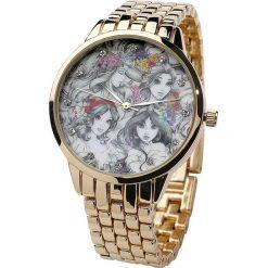 Disney Princess Zegarek na rękę złoty. Żółte zegarki damskie Disney, metalowe. Za 144,90 zł.