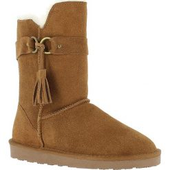 """Buty zimowe damskie: Skórzane kozaki """"Bangle"""" w kolorze brązowym"""