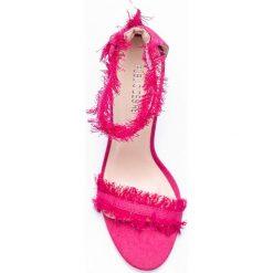 Public Desire - Sandały Effy Pink Denim. Czarne sandały damskie marki Public Desire, z materiału, na obcasie. W wyprzedaży za 79,90 zł.