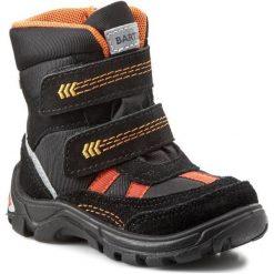 Buty zimowe chłopięce: Śniegowce BARTEK – 31523-77G Czarny/Pomarańcz