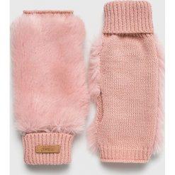 Barts - Rękawiczki. Czerwone rękawiczki damskie marki Barts, z dzianiny. W wyprzedaży za 139,90 zł.