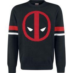 Swetry klasyczne męskie: Deadpool Logo Sweter czarny