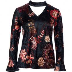 Koszulka w kolorze granatowym. Niebieskie bluzki damskie 101 idées, m, z weluru, z dekoltem na plecach, z długim rękawem. W wyprzedaży za 45,95 zł.