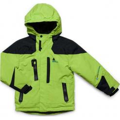 Kurtka narciarska w kolorze zielonym. Zielone kurtki chłopięce marki Peak Mountain. W wyprzedaży za 252,95 zł.