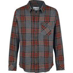 Odzież: Urban Surface Men's Checkered Shirt Koszula szary/brązowy