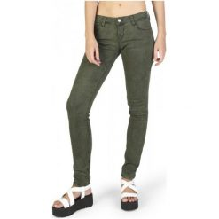 Guess Jeansy Damskie 27 Khaki. Brązowe jeansy damskie Guess, z aplikacjami, z jeansu. W wyprzedaży za 349,00 zł.