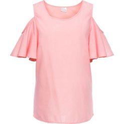 Bluzka z odkrytymi ramionami bonprix jasnoróżowy. Czerwone bluzki asymetryczne bonprix. Za 44,99 zł.