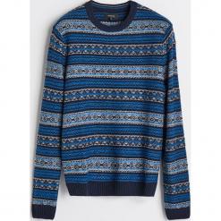 Sweter z domieszką wełny - Wielobarwn. Szare swetry klasyczne męskie Reserved, l, z wełny. Za 139,99 zł.
