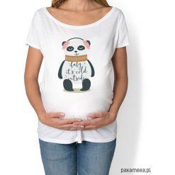 Koszulka damska, ciążowa z misiem pandą. Czarne bluzki ciążowe marki KIPSTA, m, z elastanu, z długim rękawem, na fitness i siłownię. Za 89,00 zł.