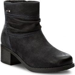 Botki LASOCKI - MELITA-04 Granatowy. Niebieskie buty zimowe damskie Lasocki, z nubiku, na obcasie. Za 229,99 zł.
