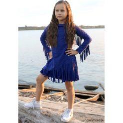 Sukienka Macrama niebieska. Niebieskie sukienki dziewczęce Pakamera, z bawełny, eleganckie. Za 105,00 zł.