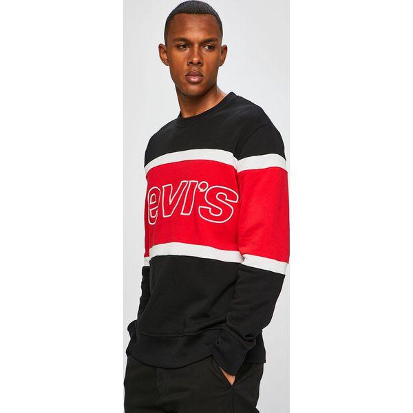 ffe350556 Levi's - Bluza - Czerwone bluzy męskie Levi's®, s, z aplikacjami, z  bawełny, z okrągłym kołnierzem, bez rękawów, bez kaptura. Za 279,90 zł.