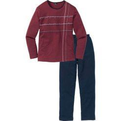 Piżama bonprix ciemnoniebiesko-bordowy. Czerwone piżamy męskie bonprix, l. Za 69,99 zł.