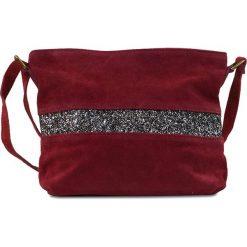 """Torebki klasyczne damskie: Skórzana torebka """"Nicole"""" w kolorze bordowym – 30 x 23 x 1 cm"""