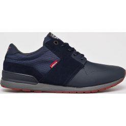 Levi's - Buty NY Runner II. Brązowe buty skate męskie Levi's®, z gumy, na sznurówki. W wyprzedaży za 229,90 zł.