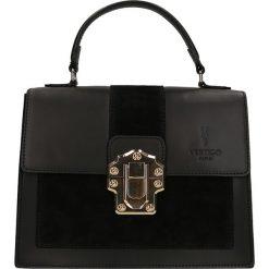 """Torebki klasyczne damskie: Skórzana torebka """"Royal"""" w kolorze czarnym – 27 x 22 x 10 cm"""