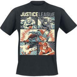 T-shirty męskie z nadrukiem: Justice League Pop Art T-Shirt czarny