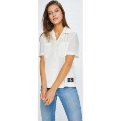 Calvin Klein Jeans - Koszula. Szare koszule jeansowe damskie Calvin Klein Jeans, l, casualowe, z krótkim rękawem. Za 359,90 zł.