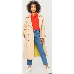 Płaszcz typu trencz - Beżowy. Brązowe płaszcze damskie pastelowe Reserved. W wyprzedaży za 149,99 zł.