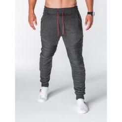 SPODNIE MĘSKIE DRESOWE P644 - GRAFITOWE. Szare spodnie dresowe męskie Ombre Clothing, z bawełny. Za 55,00 zł.