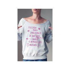 Zmęczona bluza dla karmiących matek. Szare bluzy z nadrukiem damskie One mug a day, s, z bawełny. Za 159,00 zł.