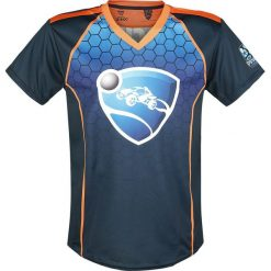 T-shirty męskie z nadrukiem: Rocket League Game On T-Shirt wielokolorowy