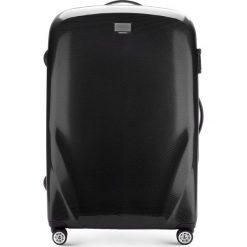 Walizka duża 56-3P-573-10. Czarne walizki marki Wittchen, z gumy, duże. Za 389,00 zł.