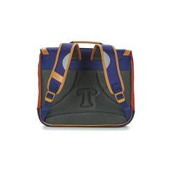 Teczki Tann's  LES BONS ENFANTS POLO CARTABLE 38CM. Niebieskie aktówki damskie marki Tann's. Za 255,20 zł.