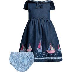 Sukienki dziewczęce letnie: JoJo Maman Bébé SAILBOAT DRESS WITH KNICKERS BABY SET Sukienka letnia charcoal