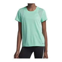 Bluzki damskie: Nike Koszulka damska W Run Top SS Tee  zielona r. M (890353-349)