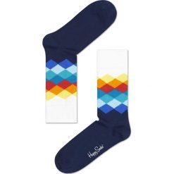 Happy Socks - Skarpety. Niebieskie skarpetki męskie marki Quiksilver, z materiału, sportowe. W wyprzedaży za 34,90 zł.