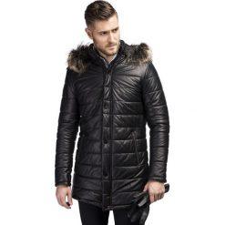 Kurtka CIPRIANO SKCS000044. Czarne kurtki męskie pikowane Giacomo Conti, na jesień, m, ze skóry. Za 2499,00 zł.