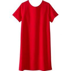 Sukienki hiszpanki: Sukienka z krótkim rękawem, fantazyjny tył