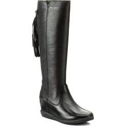 Kozaki SIMEN - 9614 Faeda Czarna. Czarne buty zimowe damskie marki Kazar, ze skóry, na wysokim obcasie. W wyprzedaży za 349,00 zł.