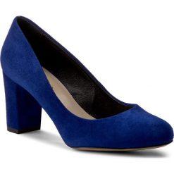 Półbuty KABAŁA - 229-01-491-00-01-01 Niebieski. Niebieskie półbuty damskie skórzane marki Kabała, na obcasie. W wyprzedaży za 229,00 zł.