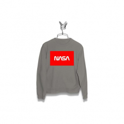 Bluza NASA czerwone Męska. Szare bluzy męskie marki Failfake, m. Za 160,00 zł.
