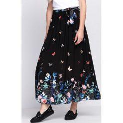 Długie spódnice: Czarna Spódnica Playful