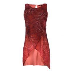 Desigual Sukienka Damska 42 Czerwony. Czerwone sukienki asymetryczne marki Desigual, na co dzień, na lato, z materiału, z asymetrycznym kołnierzem. W wyprzedaży za 299,00 zł.