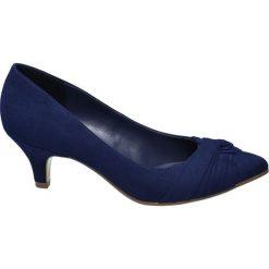 Buty ślubne damskie: czółenka damskie Graceland granatowe