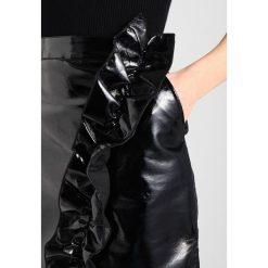 Spódniczki: NAKD METALLIC FRILL SKIRT Spódnica mini black