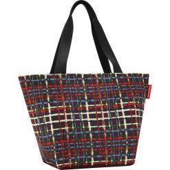 Shopper bag damskie: Shopper bag z kolorowym wzorem – 51 x 30,5 x 26 cm