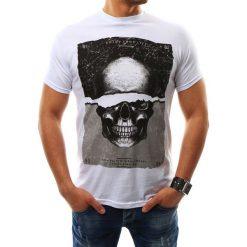 T-shirty męskie z nadrukiem: T-shirt męski z nadrukiem biały (rx2303)