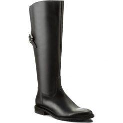 Oficerki GINO ROSSI - Noriko DKH142-T19-E100-9900-F 99. Czarne buty zimowe damskie marki Gino Rossi, z materiału, na obcasie. W wyprzedaży za 409,00 zł.