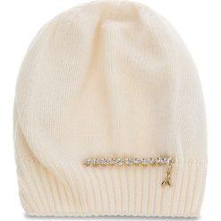 Czapka PATRIZIA PEPE - 2V8388/A3IP-I2XG  White/Shiny Crystal. Czarne czapki zimowe damskie marki Patrizia Pepe, ze skóry. W wyprzedaży za 229,00 zł.